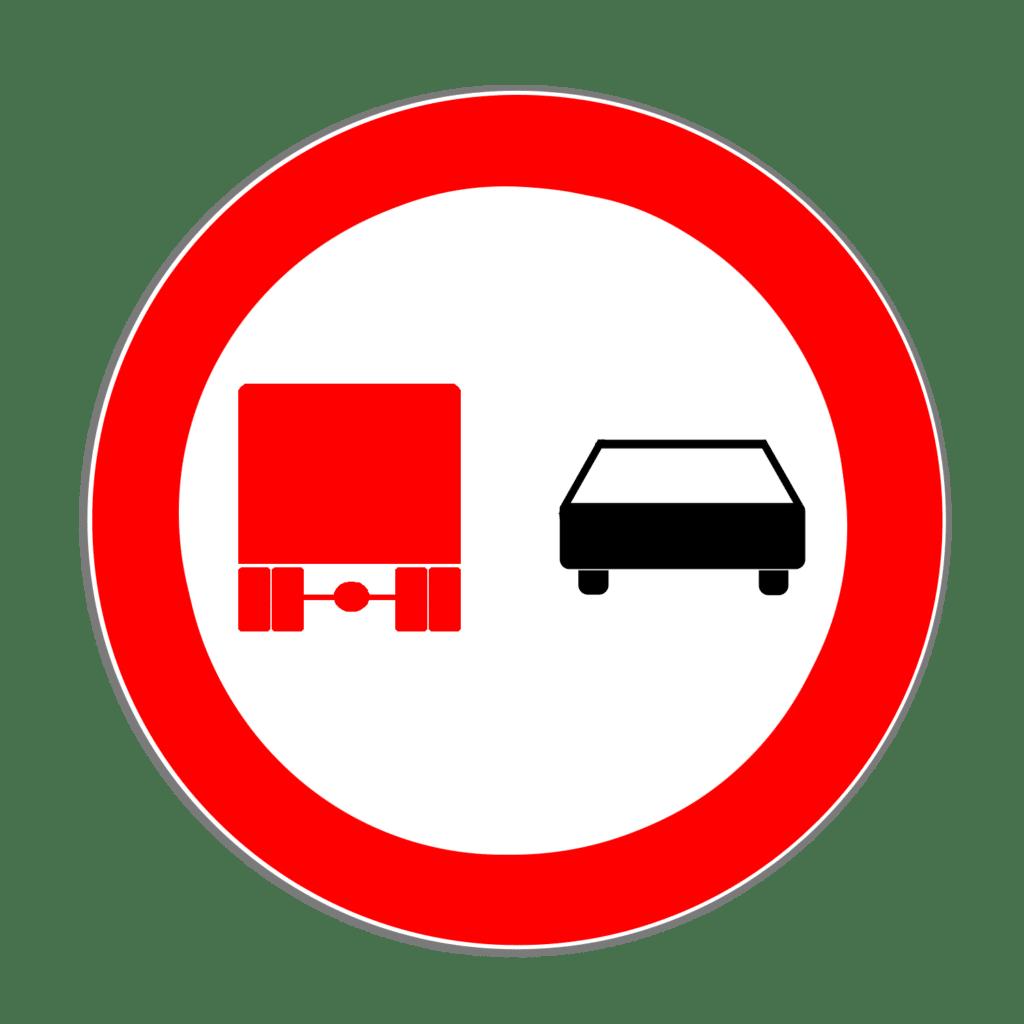 """VZ 277 """"Überholverbot für Kraftfahrzeuge über 3,5 t"""""""