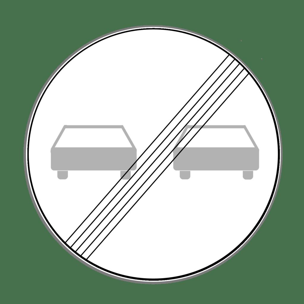"""VZ 280 """"Ende des Überholverbots für Kraftfahrzeuge aller Art"""""""