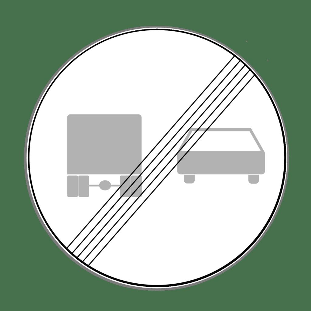 """VZ 281 """"Ende des Überholverbots für Kraftfahrzeuge über 3,5 t"""""""