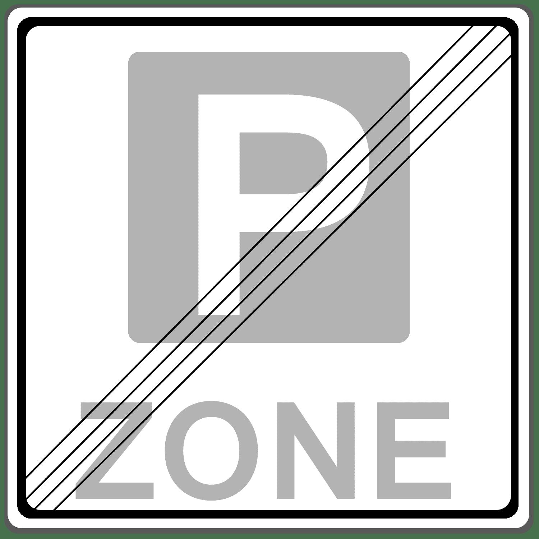 Verkehrszeichen 314-2