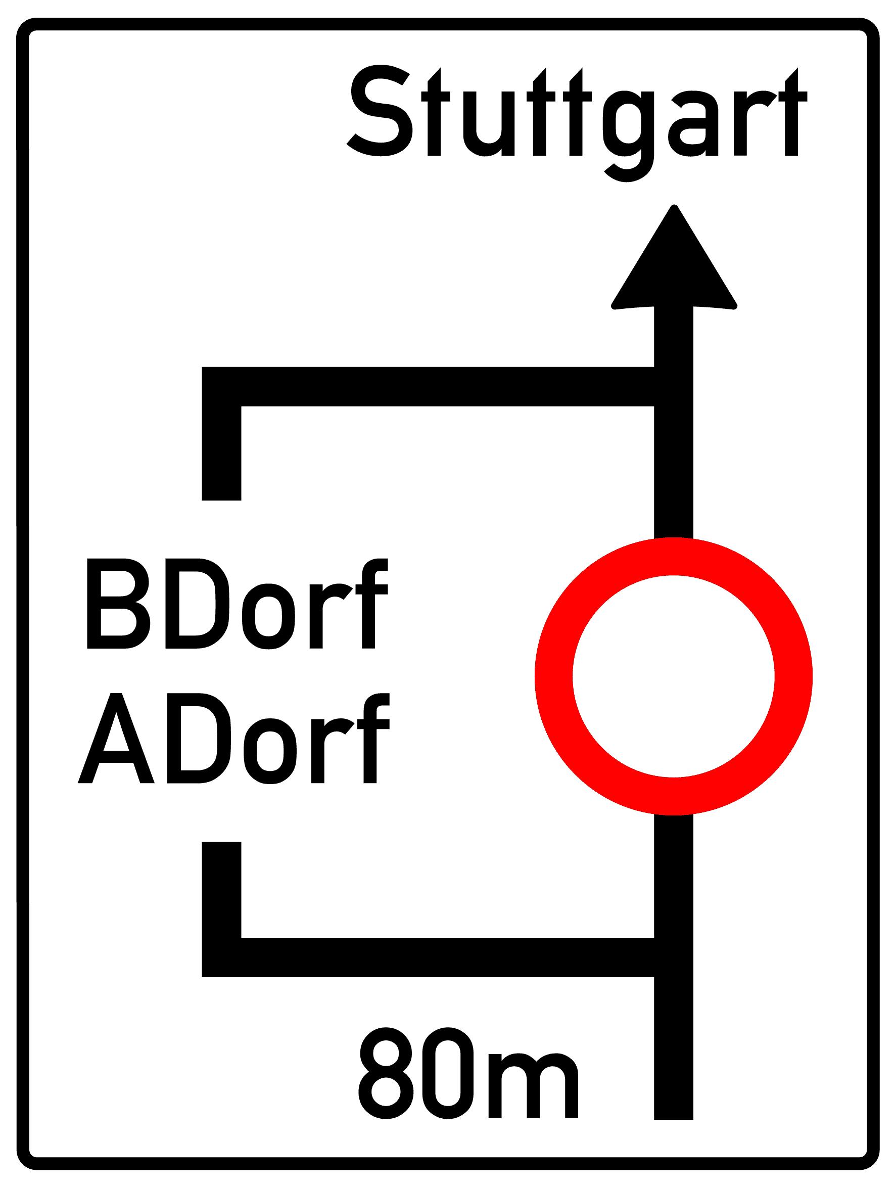 Verkehrszeichen 458