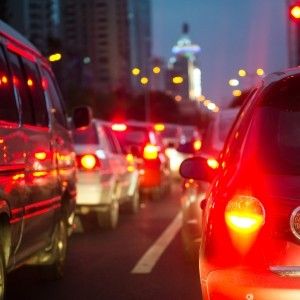 Auto-Warnzeichen von den Beleuchtungseinrichtungen
