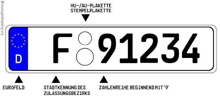 Diplomatenkennzeichen: Im Betriebskonsulat kommen Sie ebenfalls in den Genuss eines speziellen Schildes.