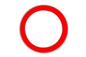 """""""Durchfahrt verboten"""": Das Zeichen 250 bedeutet eigentlich """"Verbot für Fahrzeuge aller Art""""."""