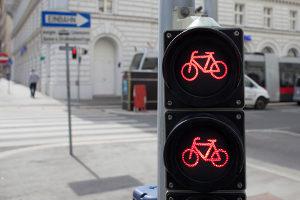 Rotlichtverstoß: Mit dem Fahrrad können auch Punkte gesammelt werden.