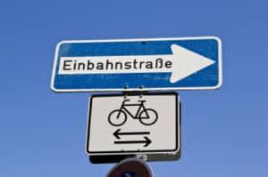 Fürs Fahrrad gelten gesonderte Regeln.