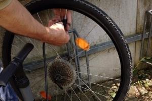 Auch das Ablassen der Luft an einem Fahrradreifen kann als Sachbeschädigung zählen.
