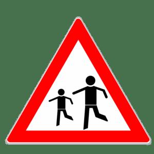 """Gefahrenzeichen """"Kinder"""" (Zeichen 136)"""