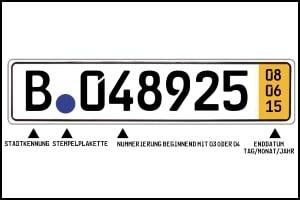 Das Kfz-Tageskennzeichen ist auch als Kurzzeitkennzeichen bekannt.