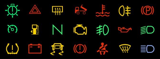 Was bedeuten die Kontrollleuchten im Auto und wann leuchten sie auf?