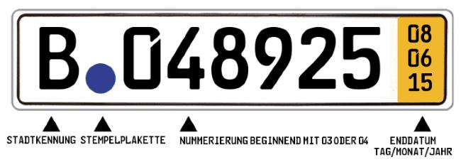 Dieses Kurzzeitkennzeichen wäre am 08.06.2015 abgelaufen.