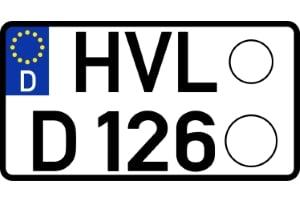 Leichtkraftrad-Kennzeichen: Welche Maße sind hier vorgeschrieben?