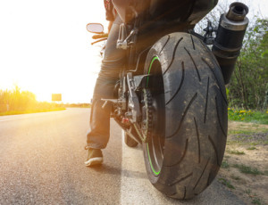 Unfall mit Motorrad im Frühling