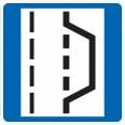 Pannenbucht: Das Schild taucht auf, wenn eine Nothaltebucht vorhanden ist.