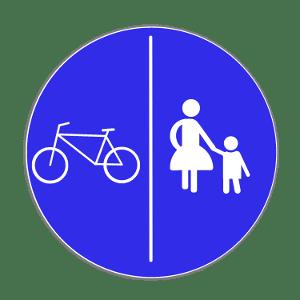 Radfahrer müssen den Radweg benutzen bei diesem Schild.