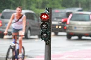Um es zu vermeiden, im Nachhinein sagen zu müssen, dass Sie die rote Ampel nicht gesehen haben, sollten Sie auch die Ampeln der anderen Verkehrsteilnehmer im Auge behalten.