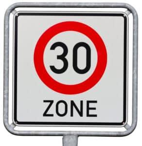 Bußgeld für Ordnungswidrigkeiten in der Tempo-30er-Zone