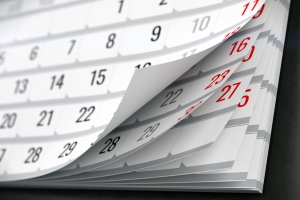 Treten Sie ein variables Fahrverbot im Februar an, kann es einige Tage weniger dauern als in anderen Monaten.