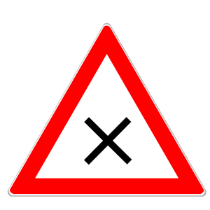 """Auch für die Regel """"Rechts vor Links"""" existiert ein Schild – Verkehrszeichen102."""