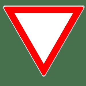 Verkehrszeichen 205: Bei diesem Vorfahrtsschild müssen Sie anderen Vorfahrt gewähren.
