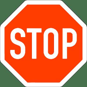 Verkehrszeichen 206: Stoppschild
