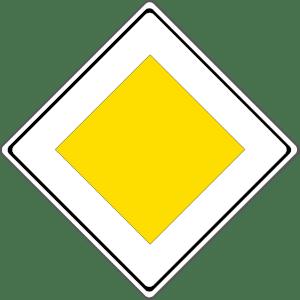 Verkehrszeichen 306: Vorfahrtsstraße