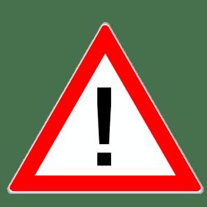 Gefahrzeichen sind eine Kategorie der Verkehrszeichen. Dieses Schild weist auf eine Gefahrenstelle hin.