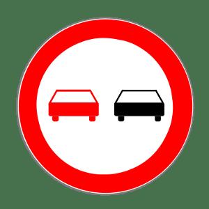 Vorschriftzeichen sind eine Kategorie der Verkehrszeichen. Dieses Schild weist auf ein Überholverbot hin.