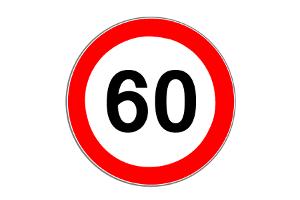 Das Vorschriftzeichen 274 begrenzt die Höchstgeschwindigkeit.